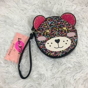 Luv Betsey Betsey Johnson Sprinkle Bear Wristlet